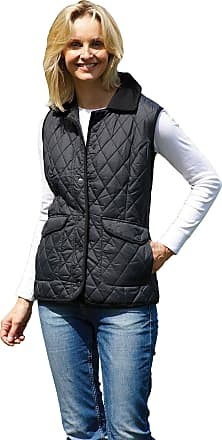 Champion Ladies Womens Country Estate Quilted Gilet Bodywarmer Walking Riding Jacket (Black) 10