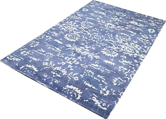 Dimond Home Senneh Handwoven Wool Printed Rug In Blue And White - 5ft x 8ft