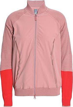 11cfce5531fa adidas Adidas By Stella Mccartney Woman Cutout Two-tone Shell Jacket  Antique Rose Size XXS
