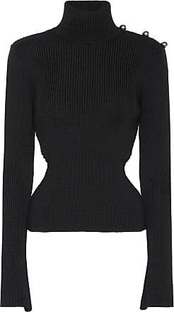 DAVID KOMA Ribbed turtleneck wool sweater