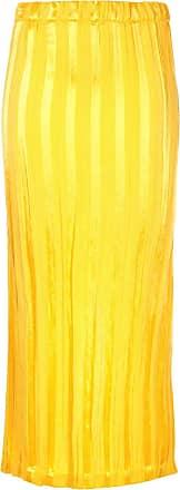 Zero + Maria Cornejo Saia lápis listrada - Amarelo