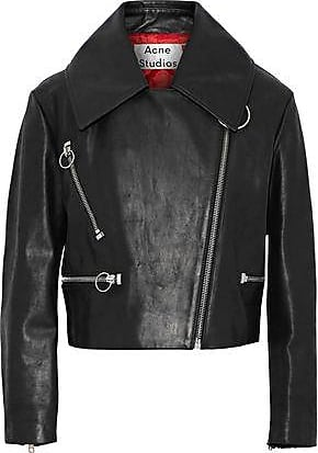 Acne Studios Acne Studios Woman Meyer Brushed-leather Biker Jacket Black Size 34