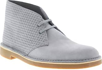 Clarks Mens Bushacre 2 Gray Desert Boots Boots Boots 12