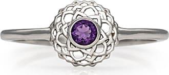 Zoe & Morgan Silber- & Amethystkronen-Chakra-Ring - Small - Purple/Silver