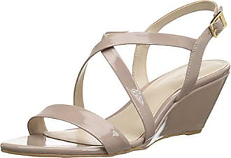 Calvin Klein Womens Thea Wedge Sandal Light Taupe 9 M US