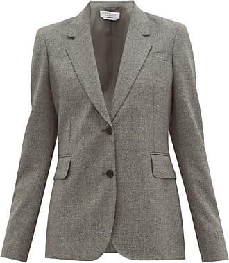 Gabriela Hearst Sophie Single-breasted Wool Jacket - Womens - Dark Grey