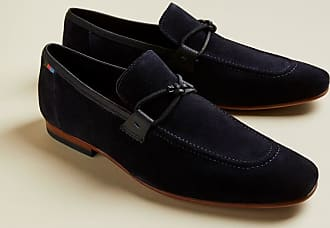 Ted Baker Suede Loafers With Knot Detail in Navy CRECY, Mens Accessories