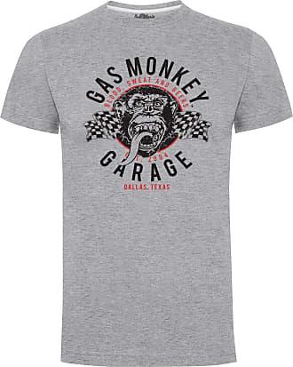 Gas Monkey Garage T-Shirt Twin Flags Grey-XL