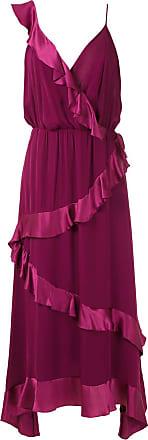 OLYMPIAH Vestido Pierno de seda - Vermelho