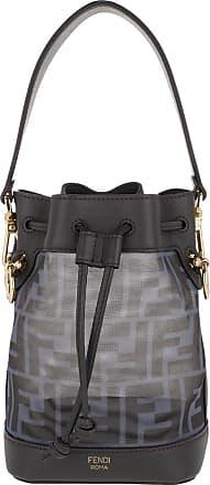 Fendi Bucket Bags - Mini Mon Tresor Bucket Bag Black/Ebony - blue - Bucket Bags for ladies