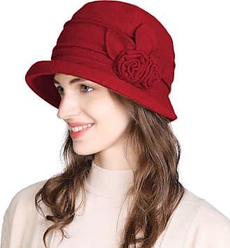 Bluelans Women Winter Hats for Women 1920s Vintage Fedora Bowler Bucket Hat Packable