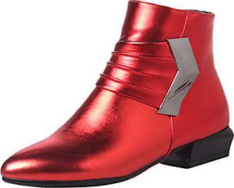 58da58594fc72c Aiyoumei Damen Herbst Winter Chunky Heel Kurzschatf Stiefeletten mit  Reißverschluss Bequem Ankle Boots