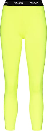 VETEMENTS Legging com logo fluorescente no cós - Amarelo
