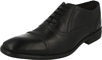Base London Mens Formal Shoes Sage - Waxy Black Leather - UK Size 11 - EU Size 45 - US Size 12