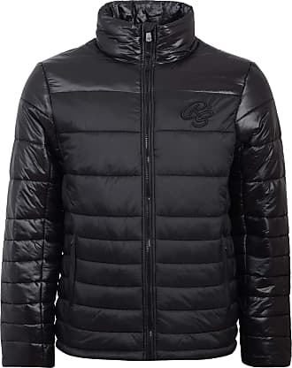 Crosshatch Mens Coats Lightweight Quilted Jacket Zip Up Coat Padded Winter Warm Puffer Coat[Black,XL]