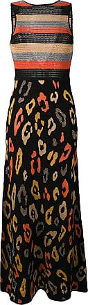 Just Cavalli Vestido longo de tricô leopardo - Preto