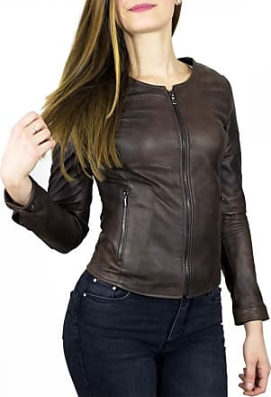 Leather Trend Italy Viola - Giacca Donna in Vera Pelle colore Testa di Moro Invecchiato