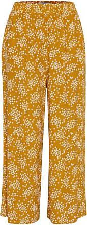 Ichi Emmet Yellow Ditsy Print Hose - S