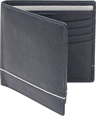 Dents Mens Smooth Two Tone Removable Pass holder and RFID Blocking Wallet - Navy/Charcoal Grey