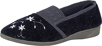 Zedzzz JOANNA Ladies Full Slippers Navy UK 5
