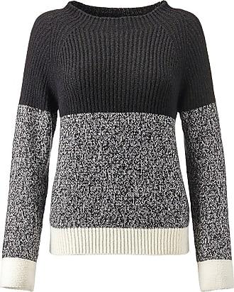 Madeleine Langarm-Pullover mit Stehkragen in schwarz MADELEINE Gr 36/38, wollweiß für Damen. Alpaka, Polyacryl, Wolle. Waschbar