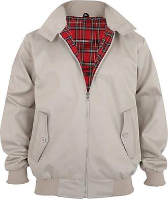 Parsa Fashions Malaika Harrington Jacket Mens Classic Vintage Retro Scooter 1970S Bomber Trendy Coat,Beige,XXL
