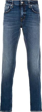 Department 5 Calça jeans slim com efeito desbotado - Azul