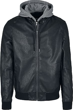 Faux Fur panelet Crop jakke pels mørk grå | Fruugo NO