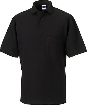 Russell Athletic Mens Heavy Duty Polo-Mens Short Sleeve Polo Shirts-011M-Black-3XL