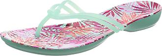 Crocs Womens Isabella Graphic Flip Synthetic Thong Sandals New Mint-Tropical Size EU 36-37 - UK W4