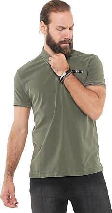 faebd471342f5 Ellus Camisa Polo Ellus Reta Militar Patch Verde