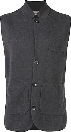 N.Peal fine gauge Milano collared waistcoat - Grey