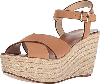 8278610f7628 Chinese Laundry Womens Mikah Espadrille Wedge Sandal Camel Leather 8 M US