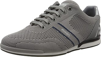 BOSS Mens Saturn_Lowp_knlg Sneaker, Medium Gray30, 10.5 UK