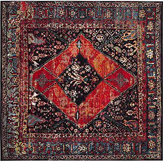 Safavieh Vintage Hamadan Collection VTH217B Orange and Multi Area Rug (53 Square)