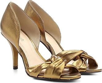 388d8636b5 Shoestock Peep Toe Couro Shoestock Salto Fino Gáspea - Feminino