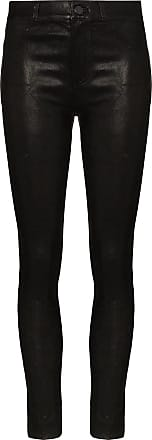 Paige Hoxton leather skinny trousers - Preto
