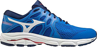 Mizuno Mens Wave EQUATE 4 Road Running Shoe, Princessblue/Wht/Lollipo