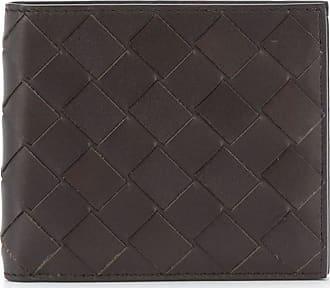 Bottega Veneta Intrecciato-weave wallet - Marrom