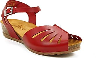 Yokono Capri 071 Red Leather Sandals Made in Spain Red Size: 5 UK