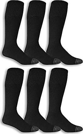 FRUIT OF THE LOOM Men/'s 6 pack ankle socks Black size 6-12 NWT