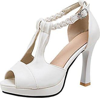 bfe3947307066f Only Damen Peep Toe High Heels Plateau T-Spange Sandalen Elegant Pumps mit  Knöchelriemchen 10cm