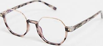 Quay Circle Back hexagonal blue light glasses in tort-Brown