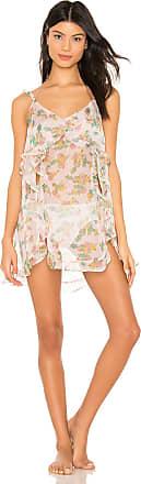 For Love & Lemons Eden Ruffled Nightgown in Pink