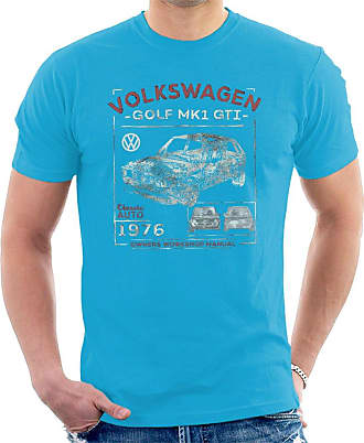 Volkswagen Golf MK1 GTI Owners Workshop Manual Mens T-Shirt Sapphire