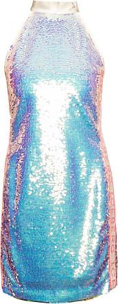 Iceberg Sequin Dress With Logo Womens Blue