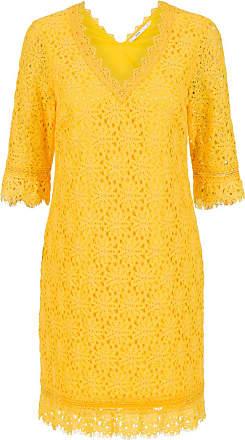 Steps Kanten jurk geel