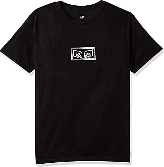 Obey Mens Jumbled Eyes Premium SS TEE T-Shirt, Black, S