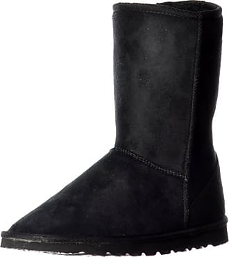 Womens Girls Ella Midi Quilted Fur Lined Flat Ankle Winter Slouch Boots Size 3-8