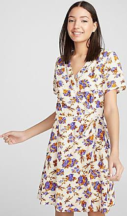 Twik Summer print wrap dress